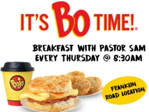 Breakfast with Pastor Sam @ Bojangles | Roanoke | Virginia | United States